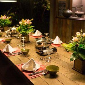 sala lodges foodtable